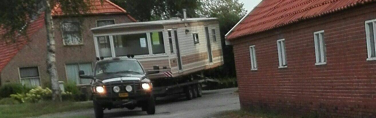 Transport stacaravan op locatie