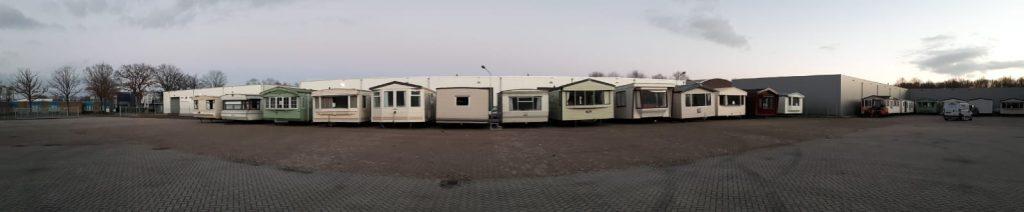 Panorama voorraad stacaravans en chalets in Ter Apel